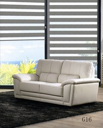 Custom Made Shade Translucent Roller Zebra Blinds in Beige Curtains for Living Room 5 Colors Are Available G16-001