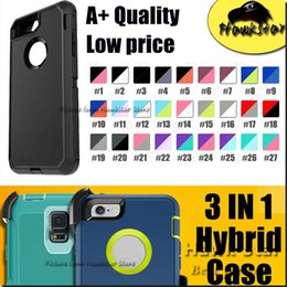 Wholesale Case For Iphone S Plus SE Samsung S6 S7 edge Plus Note Rugged Hybrid tpu Silicone Cases With Front Screen Belt Clip IN A quality