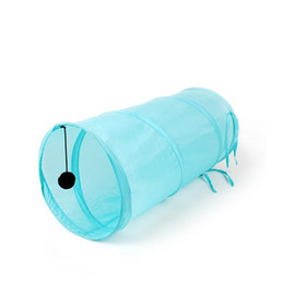 Wholesale Pet cat tunnel toy with kitten ball play fun Rabbit Long Play Tunnel Folding animals products WA0751