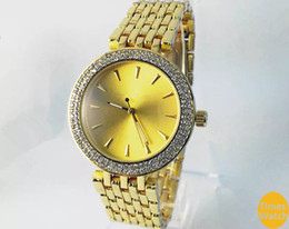 Wholesale 2016 Hot Top brand famous luxury Women Men Gold diamond wrist Relojes stainless steel rolse gold fashion watch