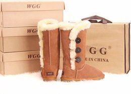 Wholesale Australian designer brand WGG Women s Classic tall Button Boots Womens boots Boot Snow boots Winter boots leather boots boot