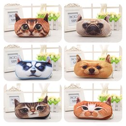 Wholesale 3 D Plush Toys Animal Pencil Case Plush Coin Change Purse With Receive Peakage Students Prizes