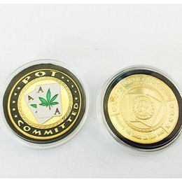 Wholesale Quality Items POT Committed Lucky Poker Chips Casino Souvenir Gold Coin Antique Metal Coin For Coin Collection