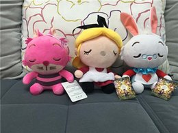 Wholesale Movie Alice In Wonderland Alice Cheshire Cat White Rabbit Stuffed Plush Toys Cute Dolls