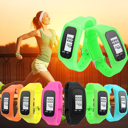 Wholesale New Arrival Hot Novel Design Digital LCD Pedometer Run Step Walking Distance Calorie Counter Watch Bracelet yoyowatch2016