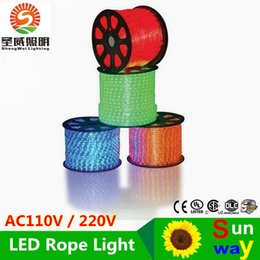 100meters led 2wire round rope light LED Flex Rope Light PVC LED Light LED Strips Indoor Outdoor LED Disco Bar Pub Christmas Party