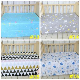 Wholesale 19styles Baby bed ins sheet Kids cartoon swan mattress cover cotton bed sheet girl boys soft crib cm