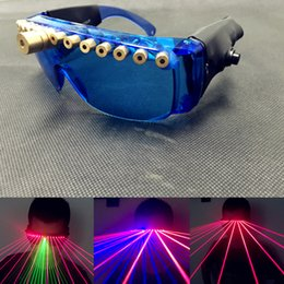 Wholesale Light emitting laser glasses bars nightclubs laser dance show necessary equipment clothing line laser glasses