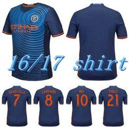 Wholesale NYCFC New York City FC Jersey PIRLO DAVID VILLA LAMPARD Home Sky Blue football MANS JERSEYS shirt