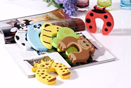 New 5x Baby Safety Finger Pinch Guard Door Stopper Baby safety products gate card Animal model