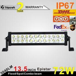 """72W 12"""" off road light bars, LED WORK LIGHT, led truck light LED Work Light Bar Fog Lamp For 4WD Truck SUV"""