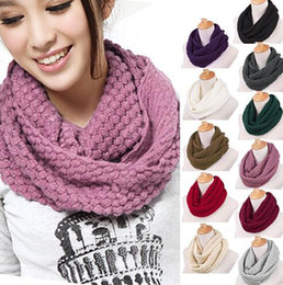 Wholesale Fashion Women's Girl's Ring Scarf Scarves Wrap Shawls Warm Knitted Neck Circle Cowl Snood For Autumn Winter (Ax30)