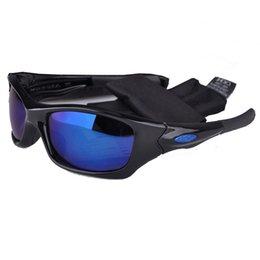 Wholesale Matt Frame Blue Lens High Qulaity Pit Mens Sunglasses Outdoor Cycling Sunglasses for Men Branded Sun Glasses Bull