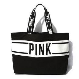 Wholesale AC244 VIDEO SPORT women girl Bicolor large Weekend Bag Shopper Tote bag beach bag