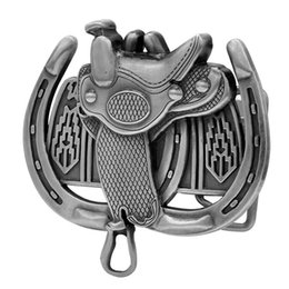 Wholesale Adult Womens Saddle Horseshoe Western Horse Ride Belt Buckle Silver