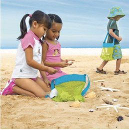 Wholesale 2016 Popular Export children baby collection bag Baby beach shells receive bag Cheap Children s Beach handbags Dredging Tool Toy Storage Bag