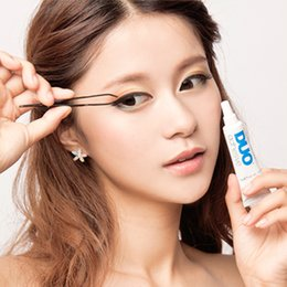 Wholesale 2016 Fashion DUO Eye Lash Glue Clear White black Makeup Adhesive Waterproof False Eyelashes Lady Makeup Tool Hot Selling F804