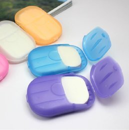 Wholesale New Sheets Travel Portable Health Care Whitening amp Exfoliating Clean Wash Hand Soap Paper Leaves with Mini Case