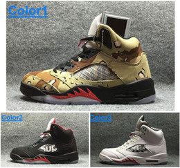 Wholesale Original quality men air sneaker A5sup canvas Camo real leather black white sports shoes New arrival Sup x men s basketball shoes