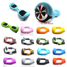 Wholesale Anti Scratch Sleeve Wrap Enclosure for quot Wheels Self Balancing Electric Scooter Silicone Case Cover for Smart Hoverboard Skateboard DHL