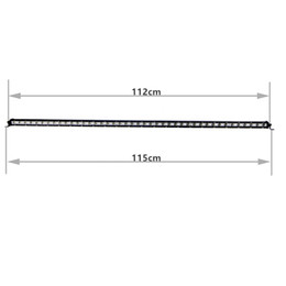 2pcs 45''Inch 126W Slim LED Working Light Bar for Boat Car Truck 4x4 SUV ATV Off Road Fog Lamp