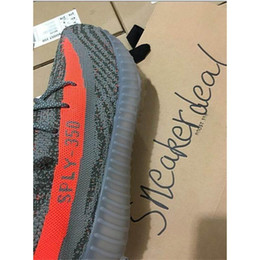 Authentic Kanye west Boot 550 SPLY 350 season 3 Running Shoes Breathable Gym Casual Sneakers Double box packaging