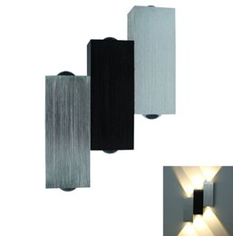 Promotion énergie ups Hot sell Moderne 6W (6 * 1W) appliques murales LED Aluminium Up / Down AC85-265V Applique murale Lumière intérieure Lumière économiseur d'énergie