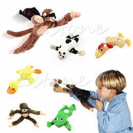 Wholesale kids pop up tunnel New Arrive for Monkey Flying Slingshot Flying Plush Chicken Duck Screaming Novelty Fun Toys Kids Holiday Gift