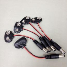 Wholesale 9V Car CCTV Camera Battery Snap Connector Clip DC mm Plug Adapter