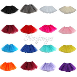 Wholesale Fashion Fluffy Baby Girls Princess Ballet Dance Tutu Skirt Organza Tulle layere Mini Skirt For Years Dress Up