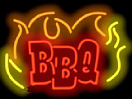 """BBQ Neon Sign Barbecue Restaurant Supper Lunch Food Eating Advertisement Display Sign Custom Handcrafted Real Glass Tube Neon Light 24""""x18"""""""