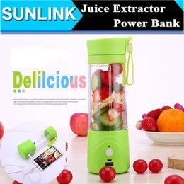 Wholesale Multi function ML Mini Juice Extractor Portable Electric Fruit Juicer Vegetable Citrus Blender Ice Crusher Power Bank Outdoor Travel