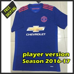 Wholesale Player version top quality United Soccer Shirt camisetas maillots de foot United embroidery logo