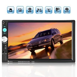 Wholesale 7 Inch Touch Screen Din Car Radio Stereo Bluetooth AUX SD FM USB MP5 Player Hands free Calls CMO_215