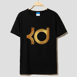 Wholesale The New Warriors Kevin Durant Du Logo Ms Men Round Collar Basketball T shirt Short Sleeve Short Sleeves Loose Leisure