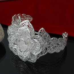 Factory direct wholesale 925 Sterling Silver four flower bracelet fashion jewelry silver bracelet