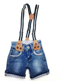 Wholesale Hot New Summer Children Infant Boys Short Jeans Elastic Meterid Denim High Qualilty Baby Kids Clothing Factory Supply
