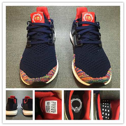Wholesale With Box Originals Ultra Boost Chinese New Year Men s Sports Running Shoes Sneakers Womens Running Shoes For Men Sports Midnight Navy Red