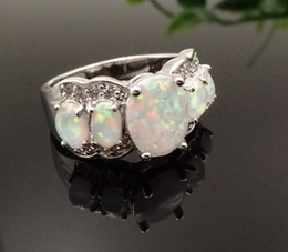Wholesale & Retail Fashion Jewelry Popular White Opal Fire Opal Stone Silver Plated Pendants For Women RAT002