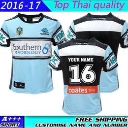 Wholesale Size S XXXL TOP Thai quality New Cronulla Sharks rugby jerseys Zealand NRL best Australia league rugby jerseys shirts