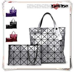 Wholesale Cheap Designed Handbags - ( 2Pcs   Set ) Hot Sale Women Diamond Style Tote Shoulder Bag Message Fashion Grid Plaid Block Handbags Cute Design Lady 2017 Cheap
