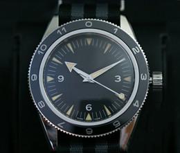 Wholesale New Stylish Auto Sea Men s Wristwatch Color Fabric Belt Glass Back Chronometer James Bond Spectre Male Watch