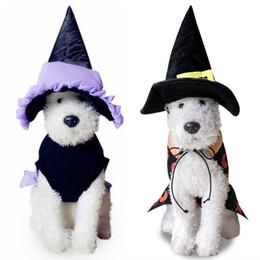 Головные уборы для собак для продажи-Мастер Pet косплей костюм собаки щенок кота Костюмированный Witch Костюмированный Собаки Щенок воротник пальто Hat Костюм для Pet