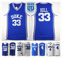 Wholesale With Logo name Stitched NCAA DUKE Retro Christian Laettner Redick HILL Basketball Jersey Jersey Size Collection Sport
