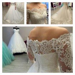Wholesale 2016 Robe de Mariee Ball Gown Wedding Dresses with Lace Appliques and Sequins anda Pearl Beads Robe de Mariage Vestidos de Novia