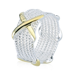 Rellecona high quality jewelry masonic ring Women Somerset Mesh Design Ring X element 925 sterling silver ring