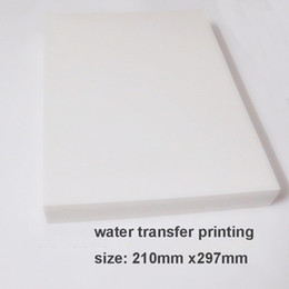 Impresoras de inyección de tinta gratis en Línea-Película hidrográfica libre de la transferencia del agua del espacio en blanco de la película del envío 20pcs / lot A4 para el material decorativo de la impresora de chorro de tinta
