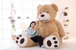 Promotion ours saint valentin cadeau géant 2016 Big Giant Teddy Bears Jouets en peluche Haute Qualité Anniversaire Valentines Day Gifts Grand ours en peluche