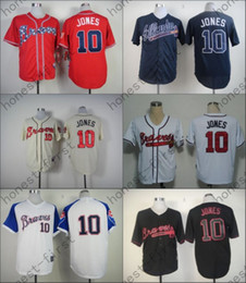 Wholesale Chipper Jones Jersey Red Dark Blue Black Cream White Turn Atlanta Braves Jerseys