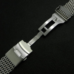 Wholesale mm Band Width Stainless Steel Mesh Web Watch Band Strap Bracelet Men Women Fold over clasp with safety and push button